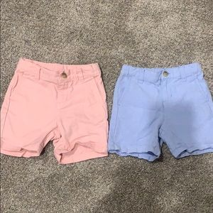 Boys Janie and jack shorts- blue and pink